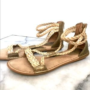 0fb9eda65c5 b.o.c. Shoes - b.o.c. Macedonia Gold Gladiator Sandals